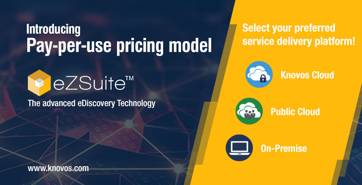 Pay Per Use Pricing model for eDiscovery